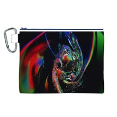 Abstraction Dive From Inside Canvas Cosmetic Bag (L)