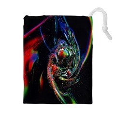 Abstraction Dive From Inside Drawstring Pouches (Extra Large)