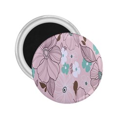 Background Texture Flowers Leaves Buds 2.25  Magnets