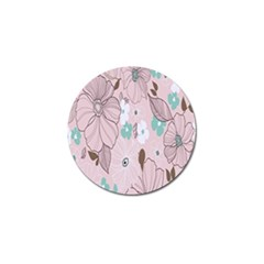 Background Texture Flowers Leaves Buds Golf Ball Marker (10 pack)