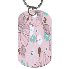Background Texture Flowers Leaves Buds Dog Tag (Two Sides)