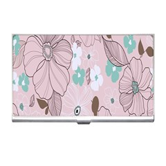 Background Texture Flowers Leaves Buds Business Card Holders