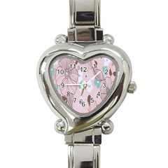 Background Texture Flowers Leaves Buds Heart Italian Charm Watch