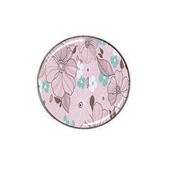 Background Texture Flowers Leaves Buds Hat Clip Ball Marker