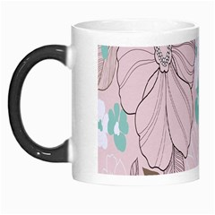 Background Texture Flowers Leaves Buds Morph Mugs
