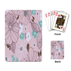 Background Texture Flowers Leaves Buds Playing Card