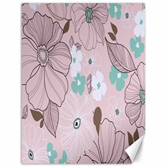 Background Texture Flowers Leaves Buds Canvas 18  X 24