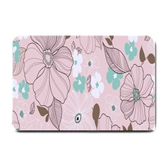 Background Texture Flowers Leaves Buds Small Doormat
