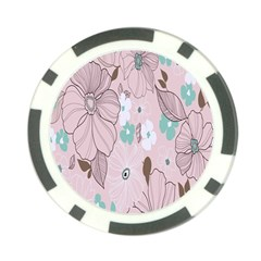 Background Texture Flowers Leaves Buds Poker Chip Card Guard