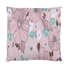 Background Texture Flowers Leaves Buds Standard Cushion Case (One Side)