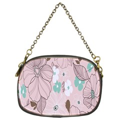 Background Texture Flowers Leaves Buds Chain Purses (Two Sides)