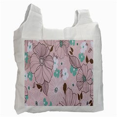 Background Texture Flowers Leaves Buds Recycle Bag (two Side)