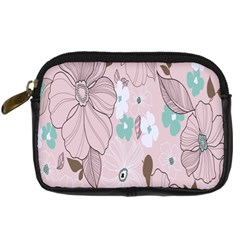 Background Texture Flowers Leaves Buds Digital Camera Cases
