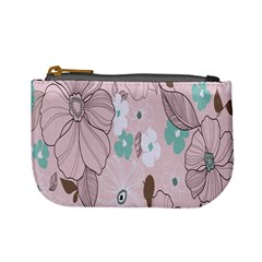 Background Texture Flowers Leaves Buds Mini Coin Purses