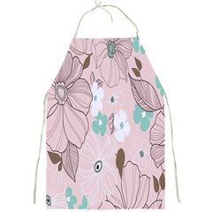 Background Texture Flowers Leaves Buds Full Print Aprons