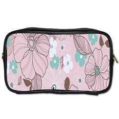 Background Texture Flowers Leaves Buds Toiletries Bags 2 Side