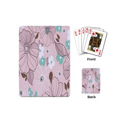 Background Texture Flowers Leaves Buds Playing Cards (Mini)