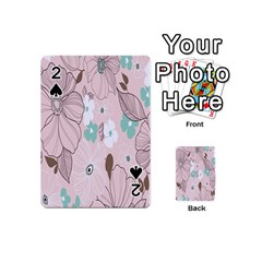 Background Texture Flowers Leaves Buds Playing Cards 54 (Mini)
