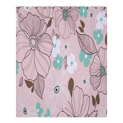 Background Texture Flowers Leaves Buds Shower Curtain 60  X 72  (medium)