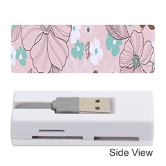 Background Texture Flowers Leaves Buds Memory Card Reader (stick)