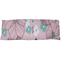 Background Texture Flowers Leaves Buds Body Pillow Case (Dakimakura)