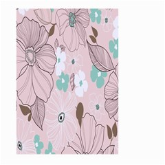 Background Texture Flowers Leaves Buds Large Garden Flag (Two Sides)
