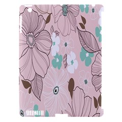 Background Texture Flowers Leaves Buds Apple iPad 3/4 Hardshell Case (Compatible with Smart Cover)