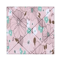 Background Texture Flowers Leaves Buds Acrylic Tangram Puzzle (6  x 6 )
