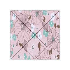 Background Texture Flowers Leaves Buds Acrylic Tangram Puzzle (4  x 4 )
