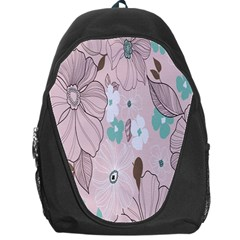 Background Texture Flowers Leaves Buds Backpack Bag