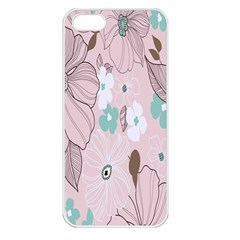 Background Texture Flowers Leaves Buds Apple iPhone 5 Seamless Case (White)