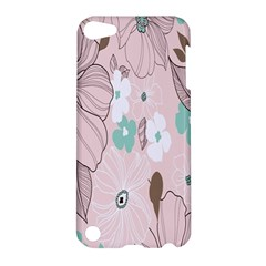 Background Texture Flowers Leaves Buds Apple iPod Touch 5 Hardshell Case