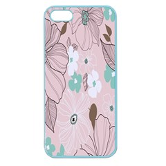 Background Texture Flowers Leaves Buds Apple Seamless iPhone 5 Case (Color)