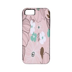 Background Texture Flowers Leaves Buds Apple iPhone 5 Classic Hardshell Case (PC+Silicone)