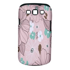 Background Texture Flowers Leaves Buds Samsung Galaxy S III Classic Hardshell Case (PC+Silicone)