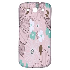 Background Texture Flowers Leaves Buds Samsung Galaxy S3 S III Classic Hardshell Back Case