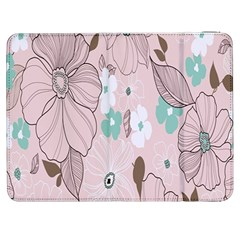 Background Texture Flowers Leaves Buds Samsung Galaxy Tab 7  P1000 Flip Case