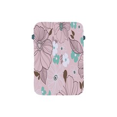 Background Texture Flowers Leaves Buds Apple iPad Mini Protective Soft Cases