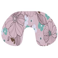 Background Texture Flowers Leaves Buds Travel Neck Pillows