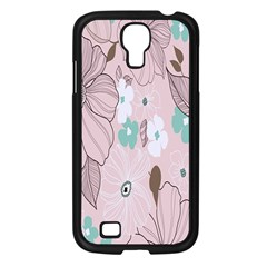 Background Texture Flowers Leaves Buds Samsung Galaxy S4 I9500/ I9505 Case (Black)