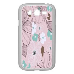 Background Texture Flowers Leaves Buds Samsung Galaxy Grand Duos I9082 Case (white)