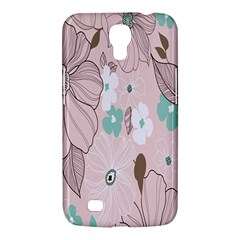 Background Texture Flowers Leaves Buds Samsung Galaxy Mega 6.3  I9200 Hardshell Case