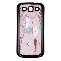 Background Texture Flowers Leaves Buds Samsung Galaxy S3 Back Case (Black)
