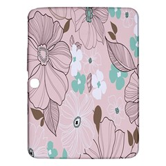 Background Texture Flowers Leaves Buds Samsung Galaxy Tab 3 (10.1 ) P5200 Hardshell Case