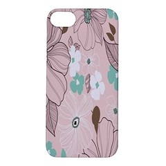 Background Texture Flowers Leaves Buds Apple iPhone 5S/ SE Hardshell Case