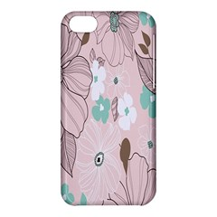 Background Texture Flowers Leaves Buds Apple iPhone 5C Hardshell Case