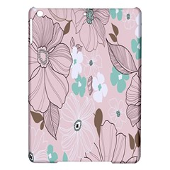 Background Texture Flowers Leaves Buds iPad Air Hardshell Cases