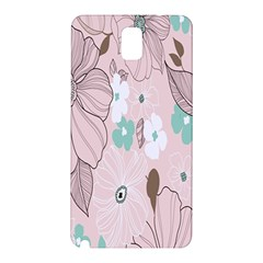Background Texture Flowers Leaves Buds Samsung Galaxy Note 3 N9005 Hardshell Back Case