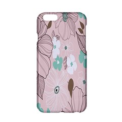 Background Texture Flowers Leaves Buds Apple iPhone 6/6S Hardshell Case