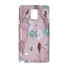 Background Texture Flowers Leaves Buds Samsung Galaxy Note 4 Hardshell Case